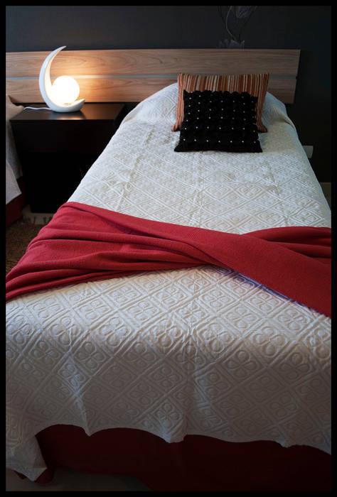 Detalles del Segundo Dormitorio: Dormitorios de estilo ecléctico por Diseñadora Lucia Casanova