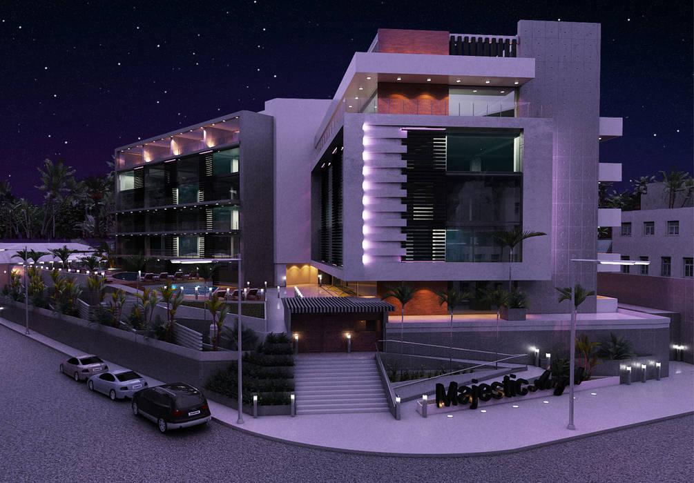 Majestic Angel: Casas de estilo  por NOGARQ C.A., Moderno