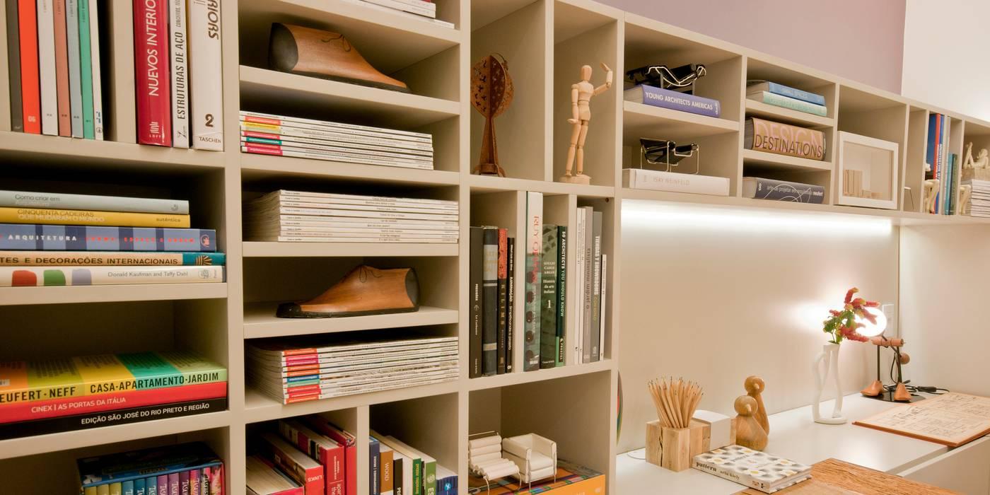 ESCRITÓRIO 70M²: Espaços comerciais  por Elisa Vasconcelos Arquitetura  Interiores,