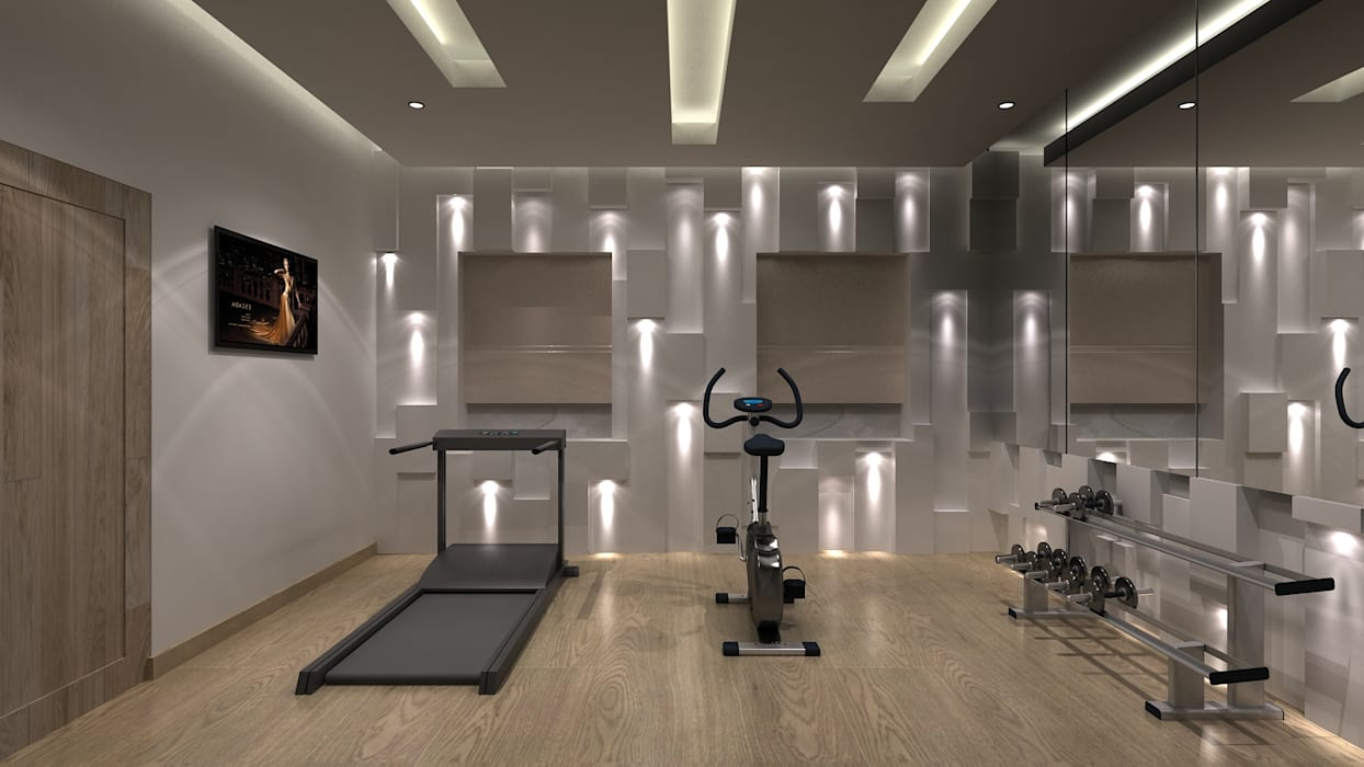 Residential interiors at trichy. (www.depanache.in): modern gym by ...