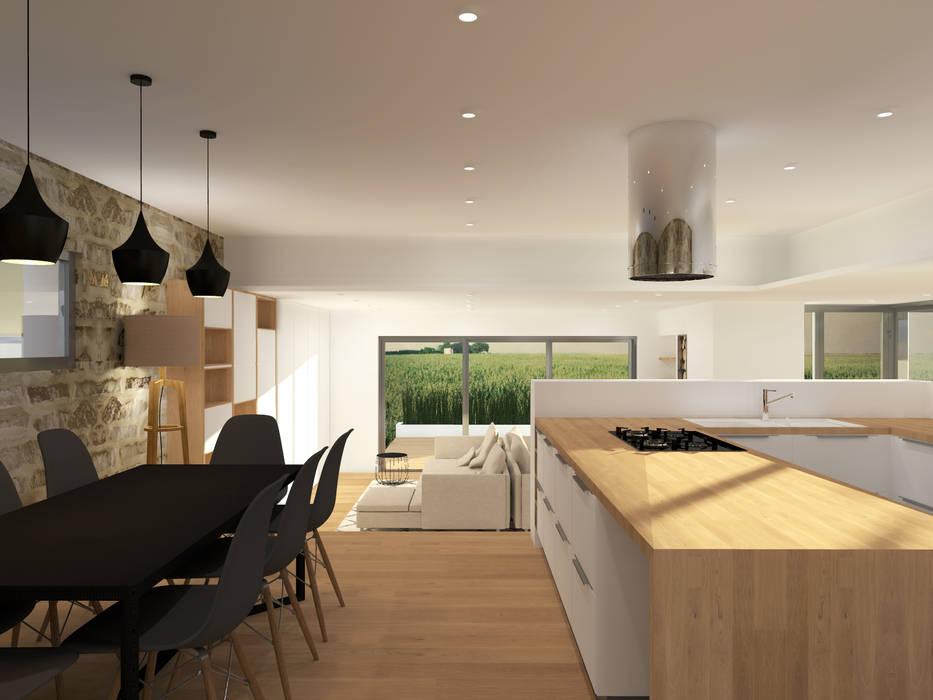 Aménagement& décoration d'une maison - Strasbourg: Salle à manger de style de style Scandinave par Ektor studio