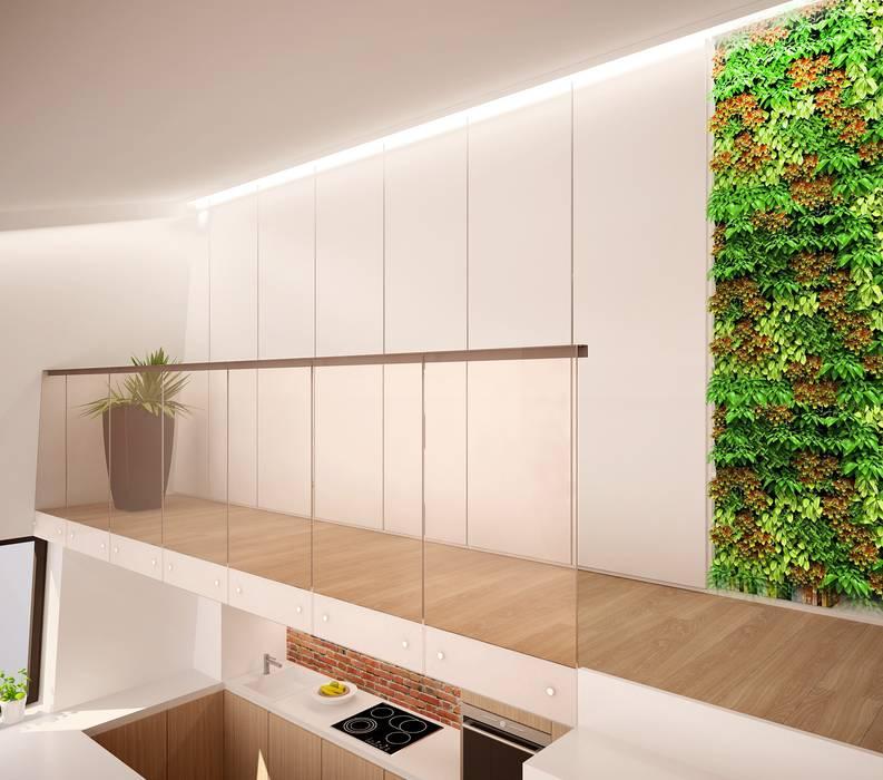 Лофт С Антресолью ООО 'Студио-ТА' Коридор, прихожая и лестница в эклектичном стиле