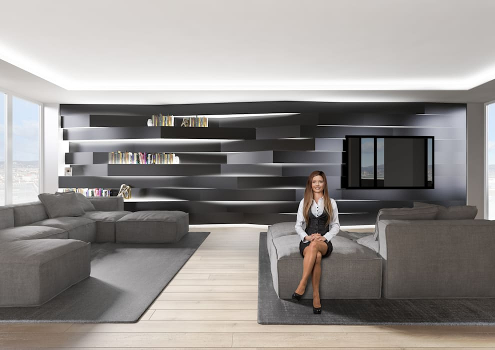 PENTHOUSE 23 Modern Living Room by Who Cares?! Design Modern