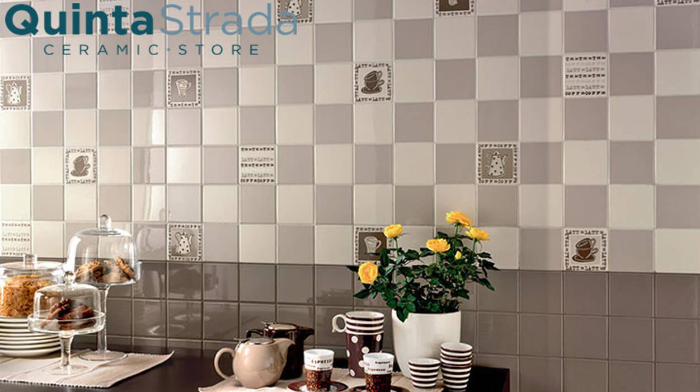 Collezione Mono: Cucina in stile in stile Moderno di Quinta Strada - Ceramic Store