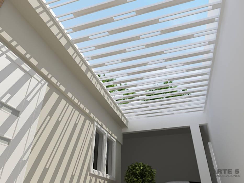 Diseño de proteccion exterior: Casas de estilo  de Arte 5 Remodelaciones, Minimalista