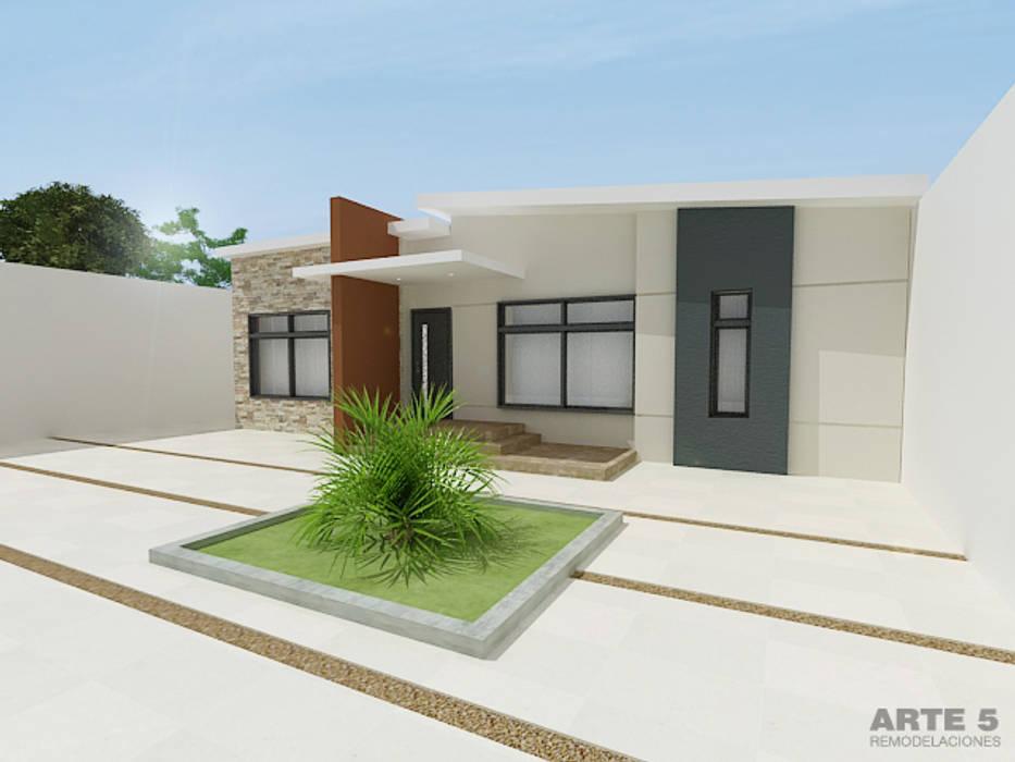 Diseño de fachada residencia unifamiliar: Casas de estilo  de Arte 5 Remodelaciones