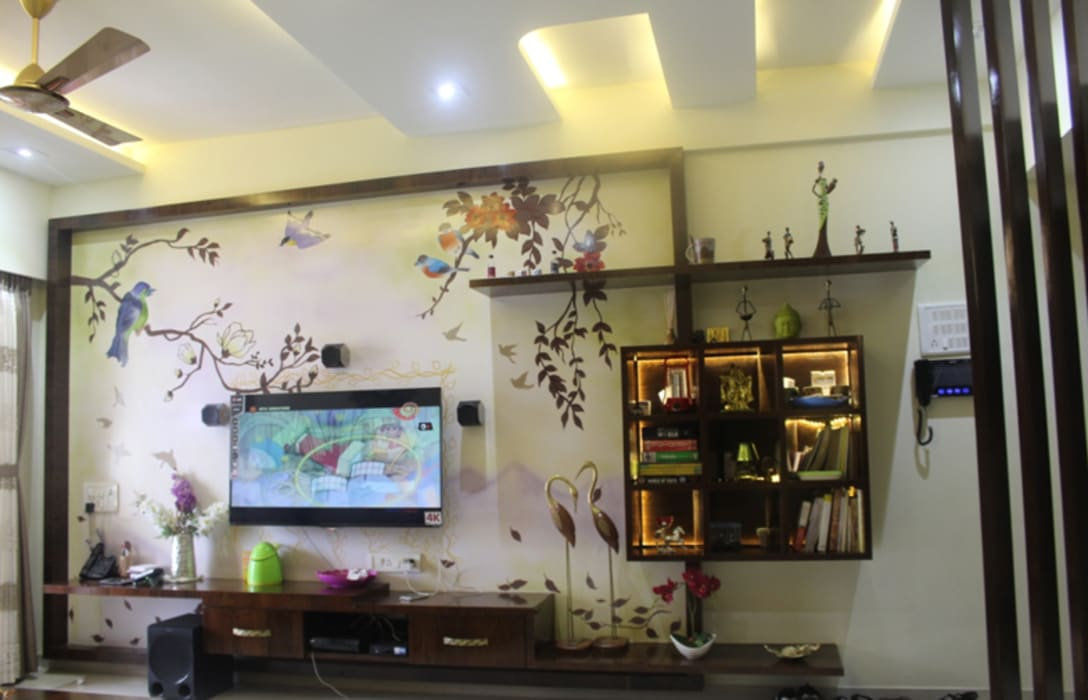 Mr.Pramod Chaudhary at Cosmos Horrizon UNIQUE DESIGNERS & ARCHITECTS Modern living room