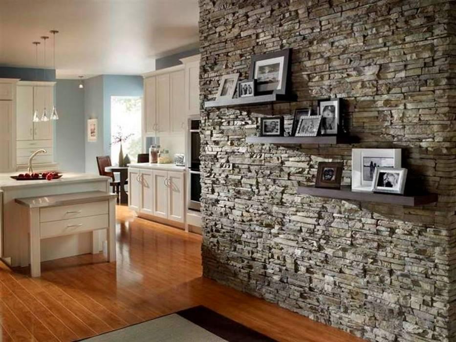 Rivestimenti in pietra naturale : soggiorno in stile di mavela marmi ...