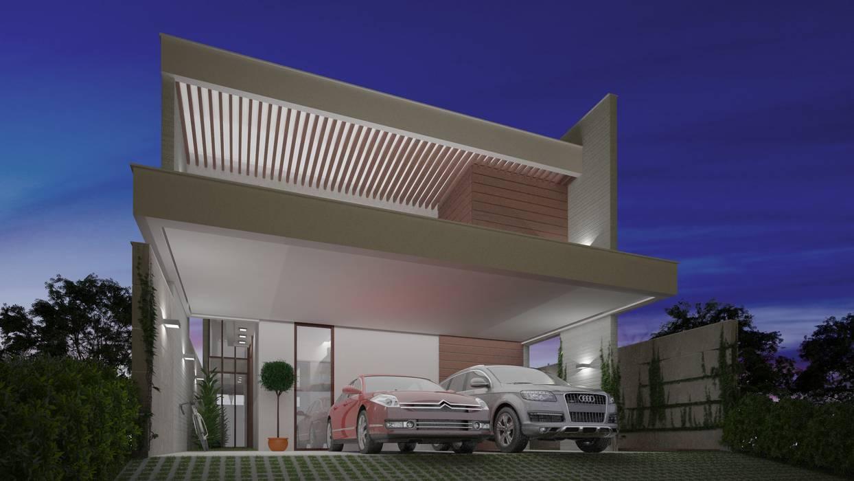 Maisons de style  par Sieg Arquitetura e Construção, Éclectique Béton