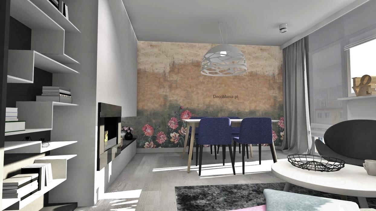 Mieszkanie w bloku z wielkiej płyty, Polkowice: styl , w kategorii Salon zaprojektowany przez Designbox Marta Bednarska-Małek