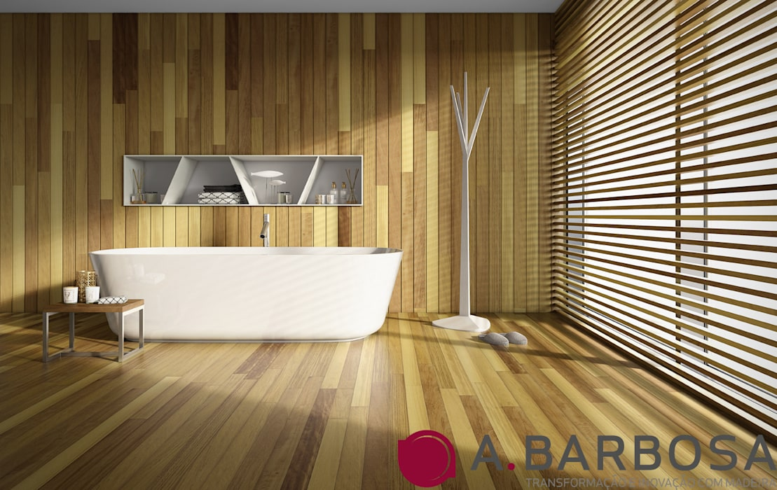 A.Barbosa BathroomBathtubs & showers Solid Wood Wood effect