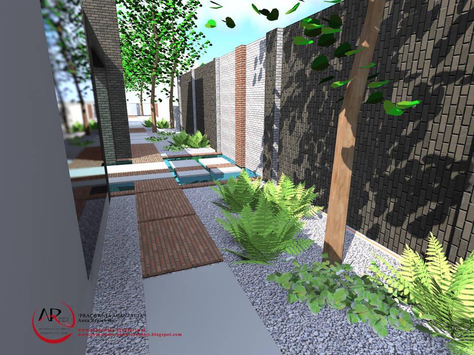 Jardines de estilo moderno de PRACOWNIA ARANŻACJA ANNA RYPLEWSKA Moderno