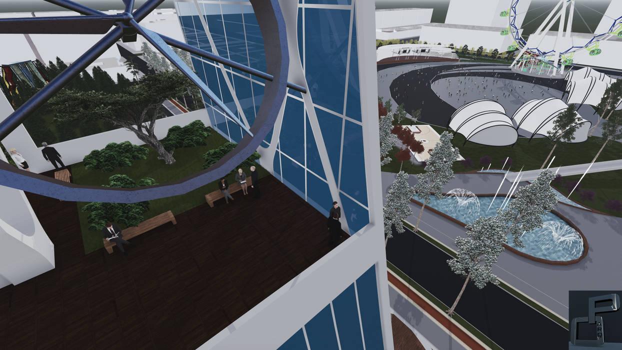CN 1 : Espacios comerciales de estilo  por Arquitecto Pedro Ojeda, Moderno
