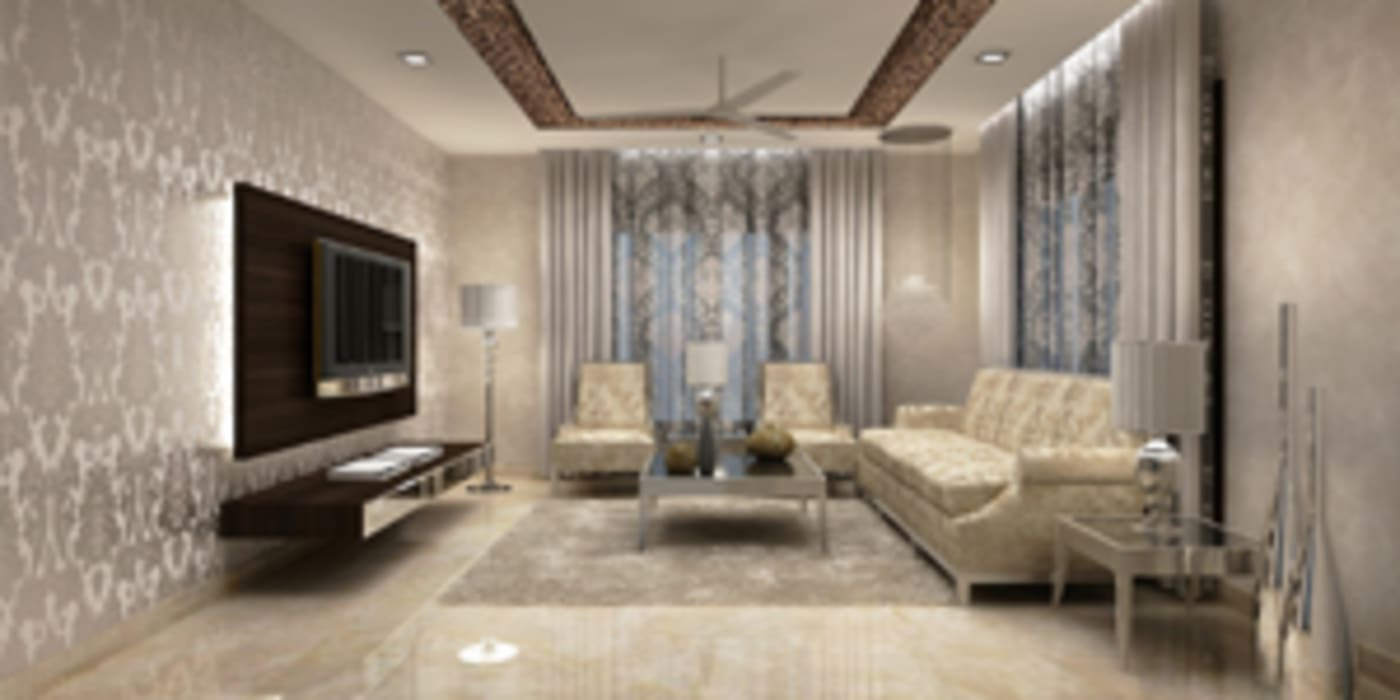 Salas de estilo moderno de EXOTIC FURNITURE AND INTERIORS Moderno