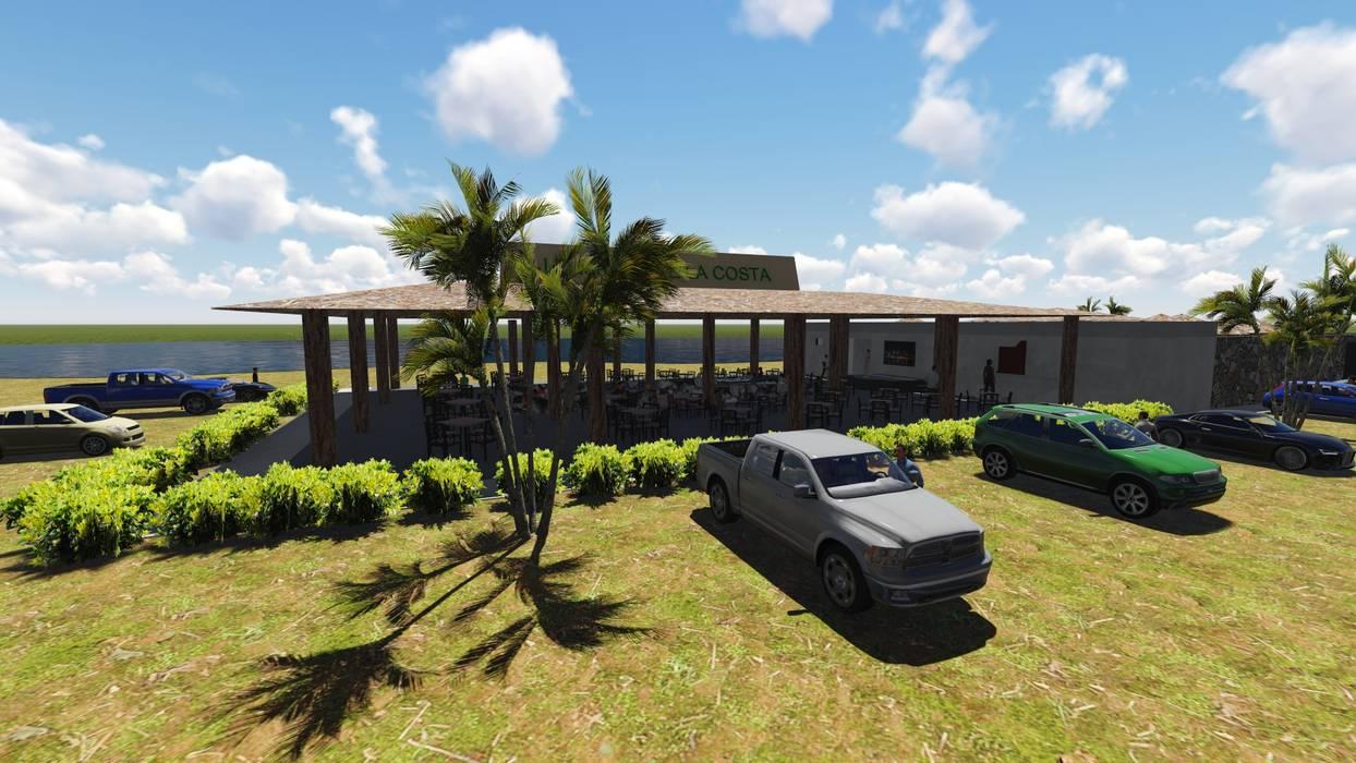 Complejo Turístico: Lo Mejor de la Costa: Terrazas de estilo  por JRF arquitectura