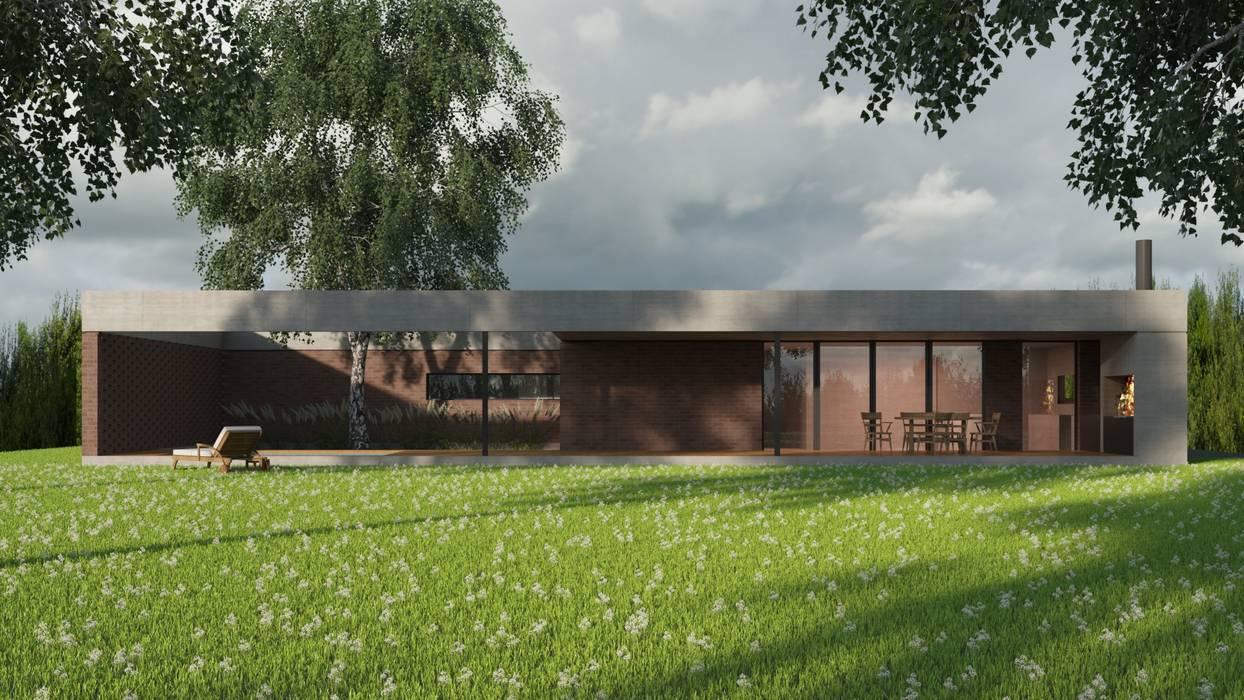 Casa B Casas modernas: Ideas, imágenes y decoración de D+D Studio Moderno