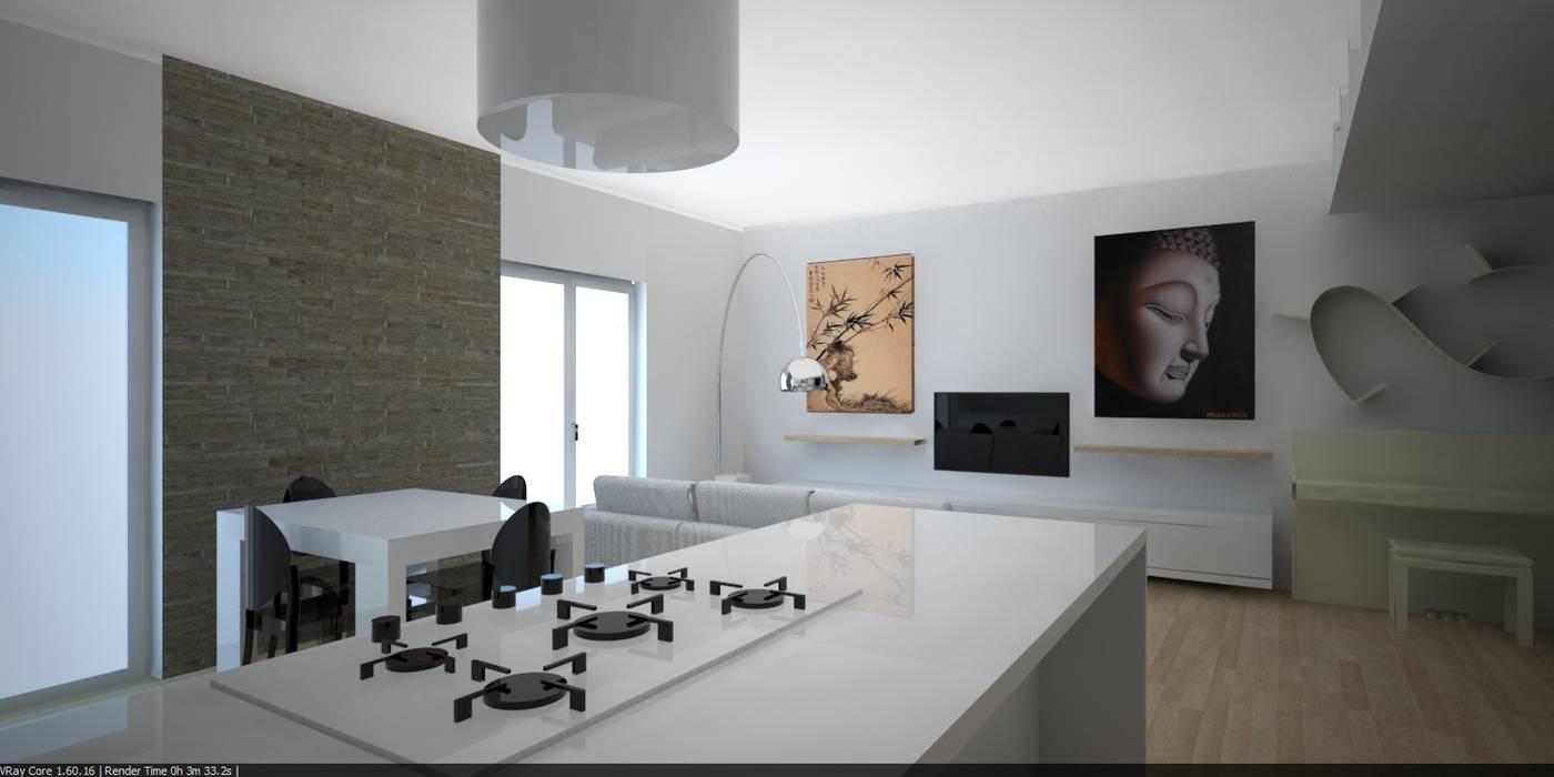 Render 3d: Cucina in stile in stile Moderno di The Creative Apartment