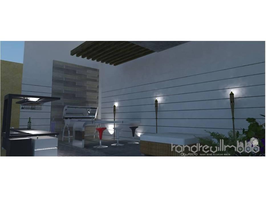 PROPUESTA DE ARQUITECTURA REMODELACION DE ESPACIO SOCIAL DE VIVIENDA UNIFAMILIAR Balcones y terrazas de estilo minimalista de RAVM Arquitecto Minimalista