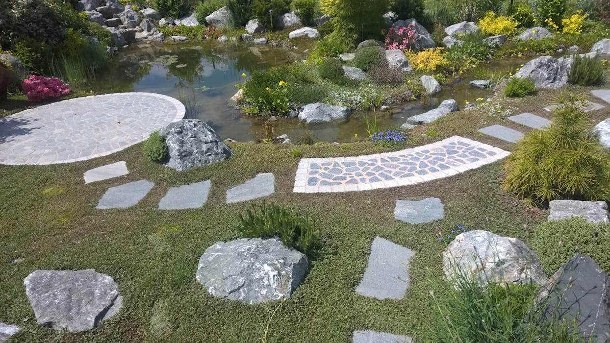Jardines de estilo mediterráneo de Neues Gartendesign by Wentzel Mediterráneo