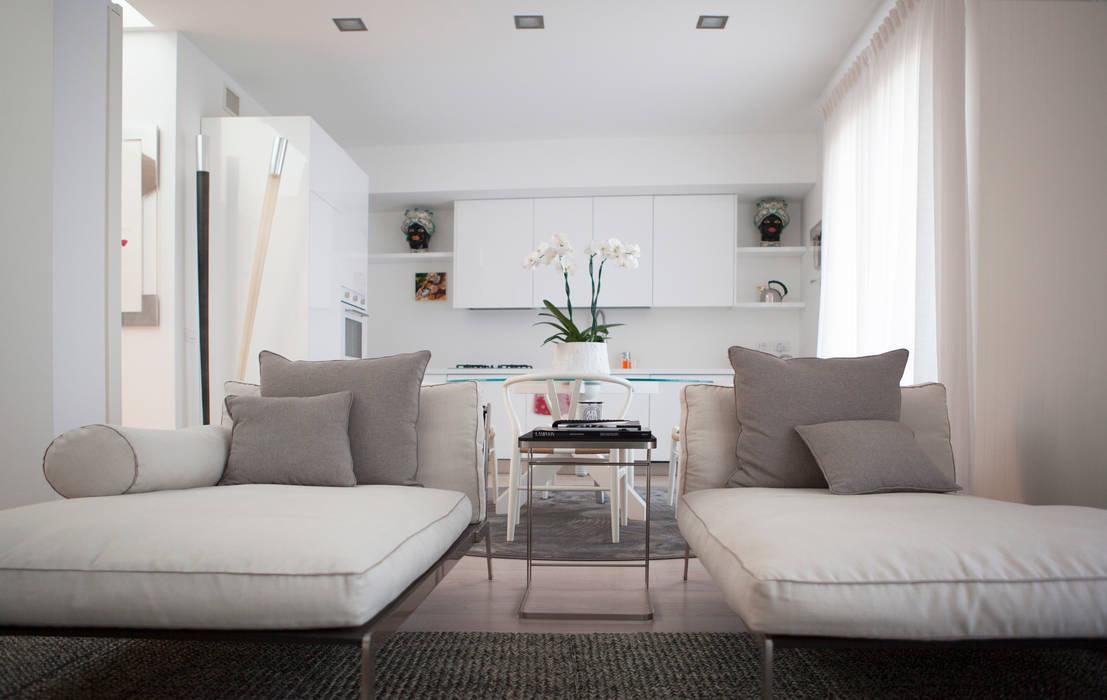 Salon minimaliste par Archidromo - Circuito di Architettura - Minimaliste