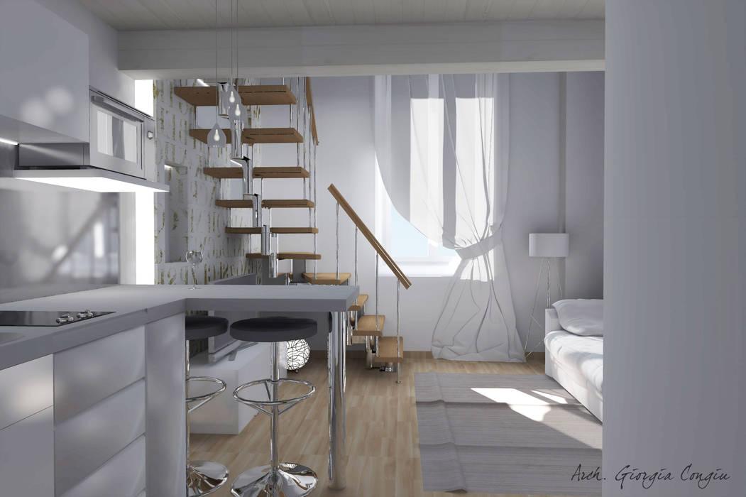 Arredamento Da Interno Moderno.Progetto Arredamento Di Interni Mini Appartamento Sala Da