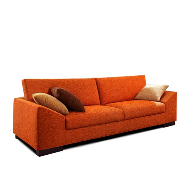 "sofa  ""micaela"": Livings de estilo  por rosario sofas"