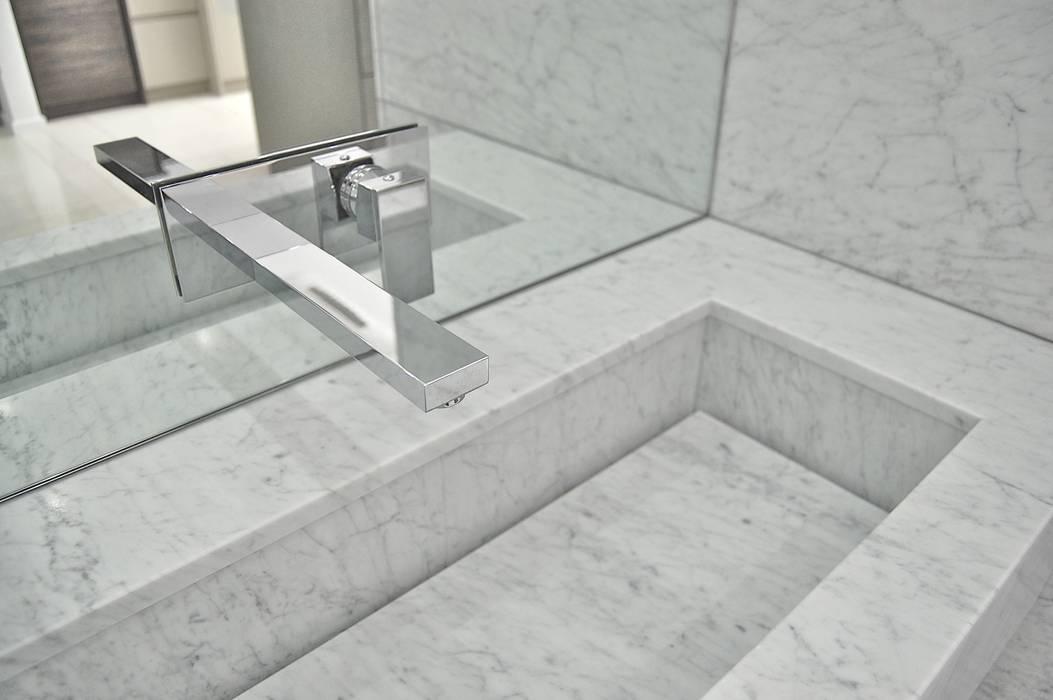 Carrara Marble Vanity Modern Bathroom By Ogle Luxury Kitchens Bathrooms Modern Marble Homify