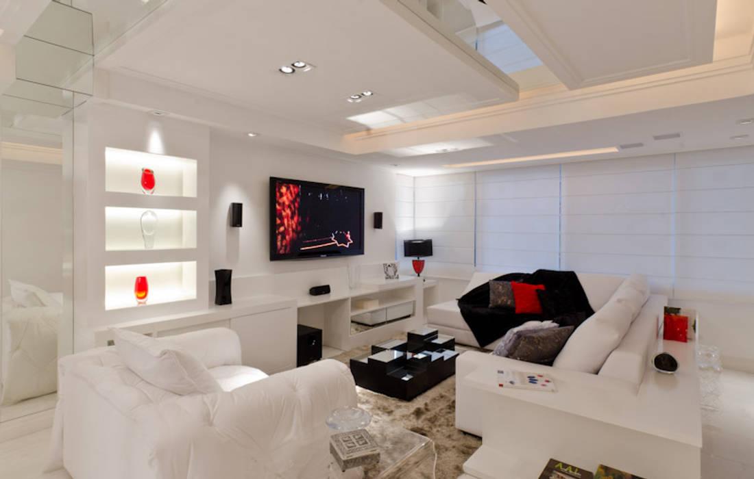 Moderne Wohnzimmer von HB Arquitetos Associados Modern MDF