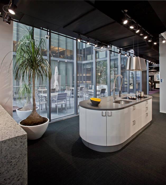 Showroom y Oficinas Gravita Estudios y despachos modernos de Serrano Monjaraz Arquitectos Moderno