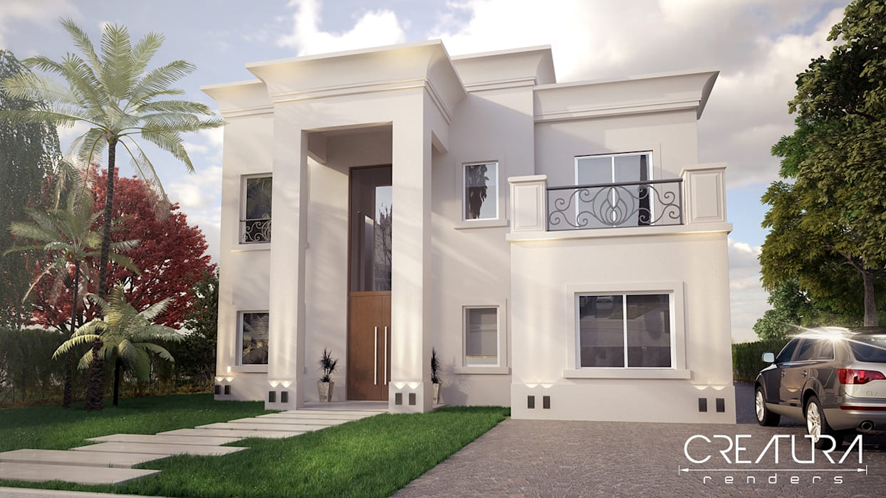Creatura Renders Colonial style house