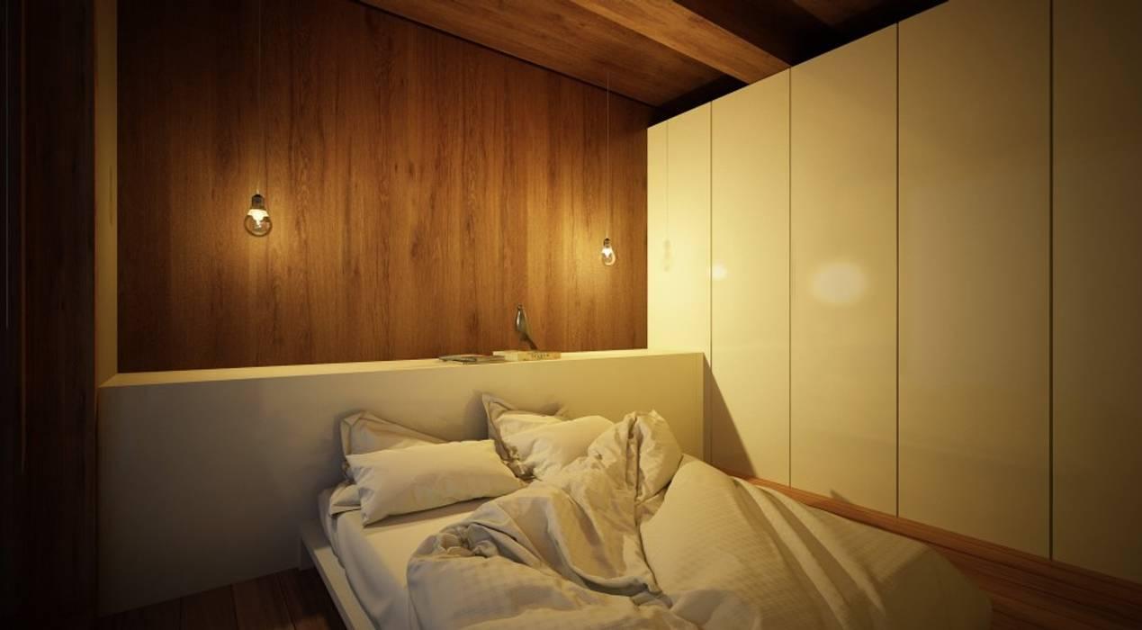 Cuartos de estilo  por Maqet, Escandinavo Madera Acabado en madera