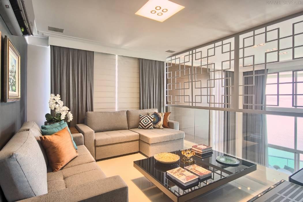 Apartamento - pé direito duplo: Salas de estar  por Spengler Decor,Moderno
