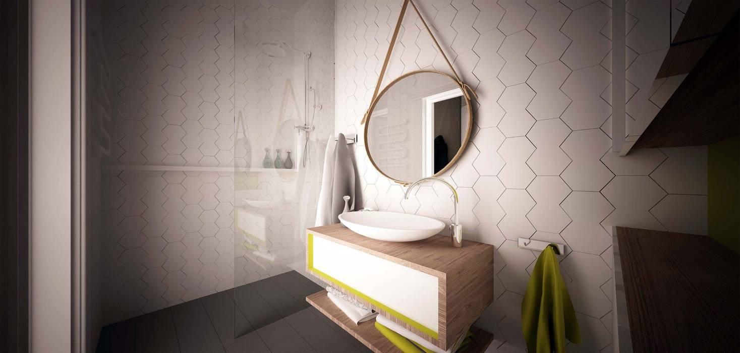 Zółty Apartament: styl , w kategorii Łazienka zaprojektowany przez WZ STUDIO