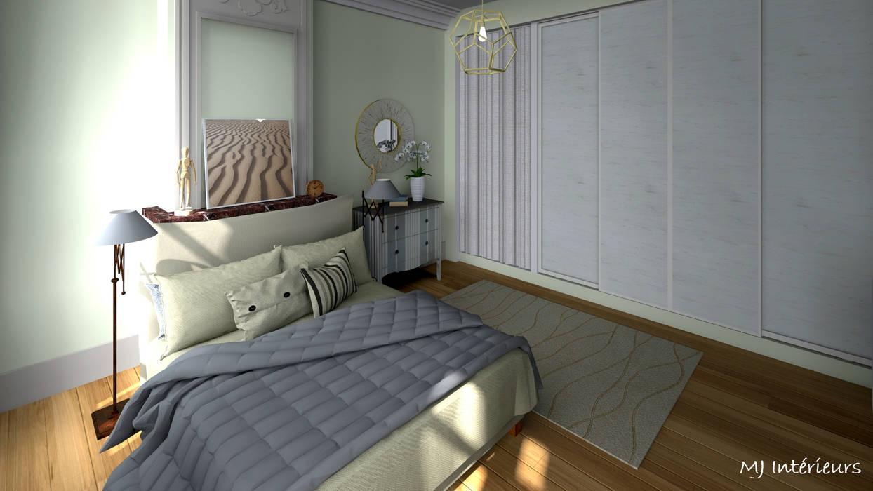 Grande chambre: Chambre de style  par MJ Intérieurs
