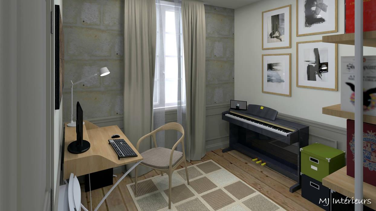 Bureau dans la petite pièce bureau de style par mj intérieurs