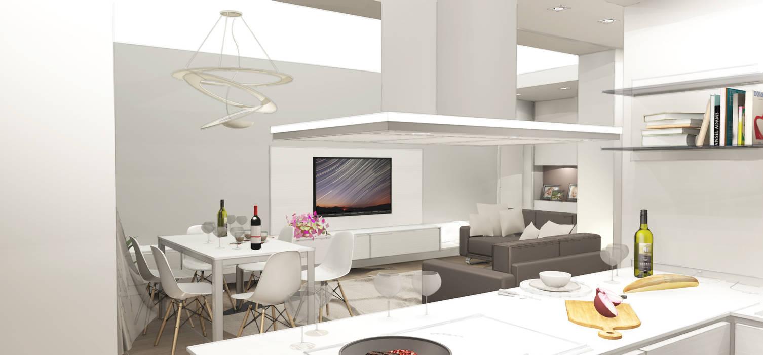 Progetto di ristrutturazione con studio degli interni: soggiorno in ...