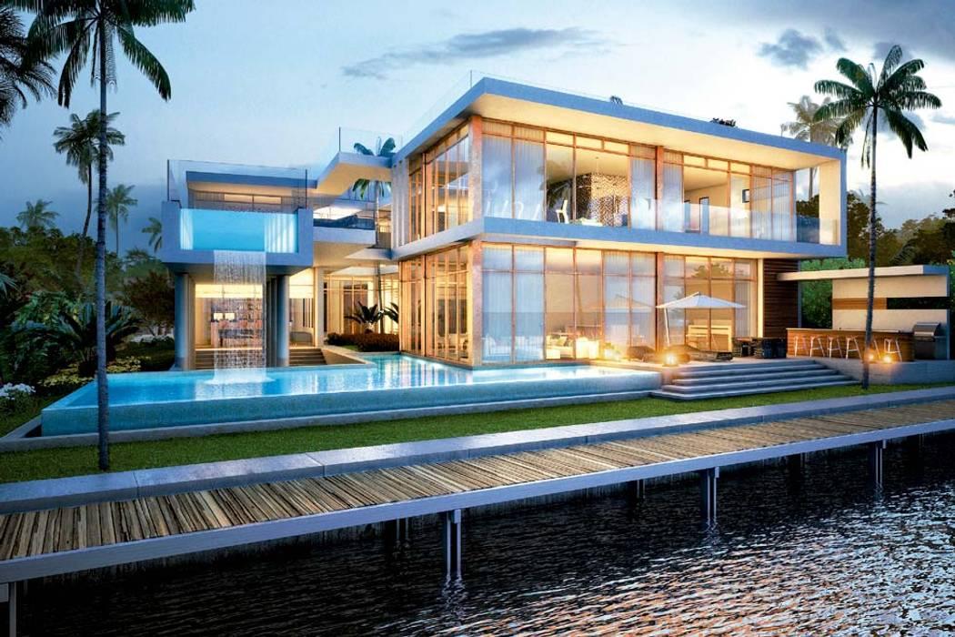 H2 + KUBIK, MIAMI, FLORIDA: Casas de estilo  por Kubik Lab,
