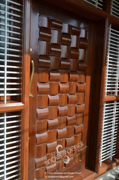 door design homify Minimalist windows & doors