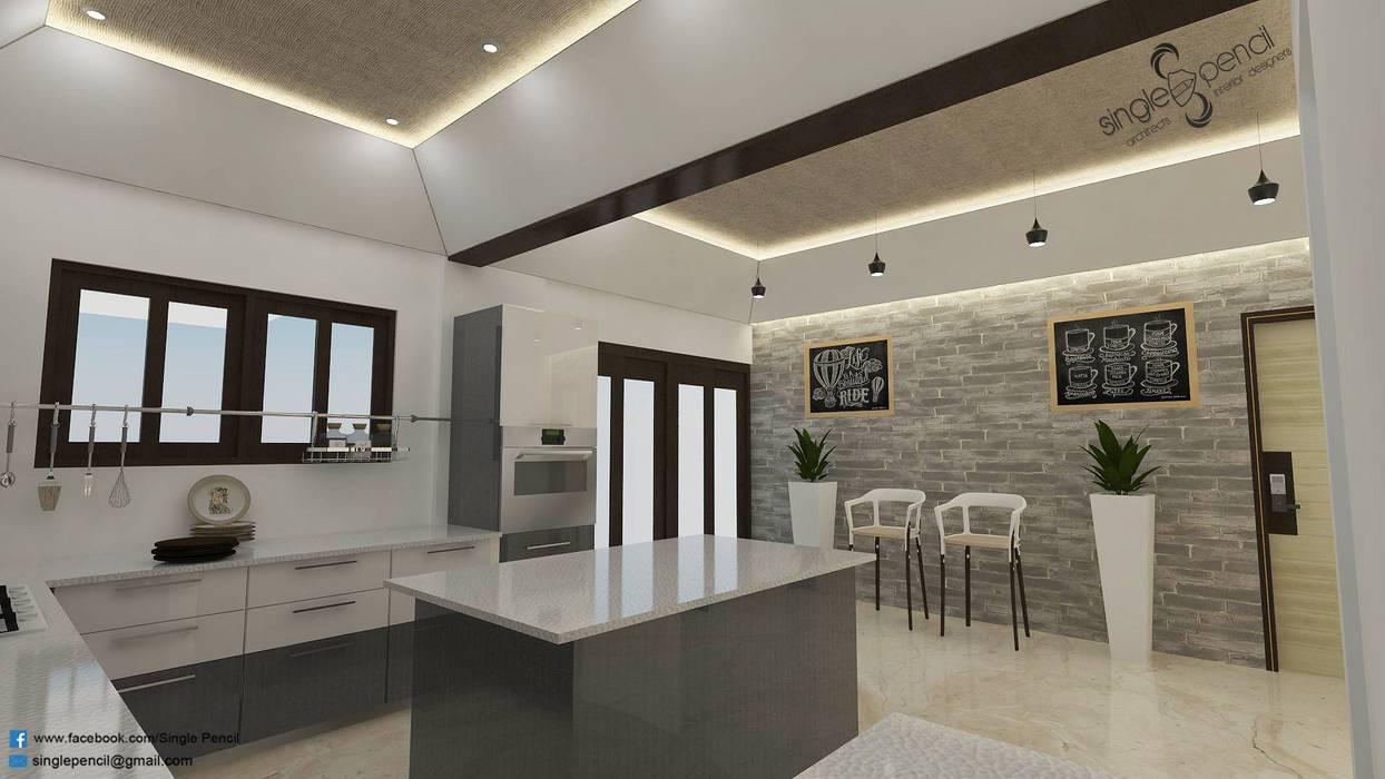 Cocinas de estilo moderno de single pencil architects & interior designers Moderno