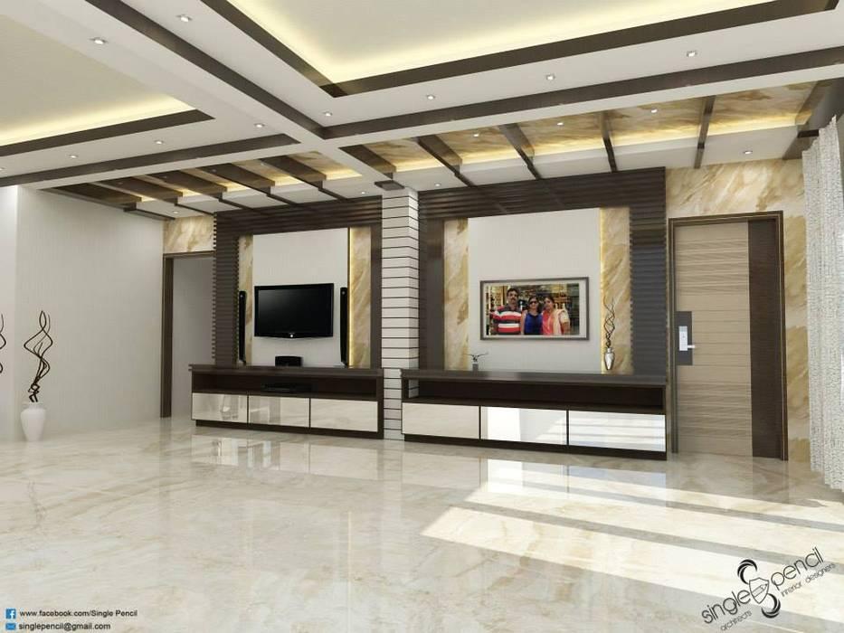 Salas de estilo moderno de single pencil architects & interior designers Moderno