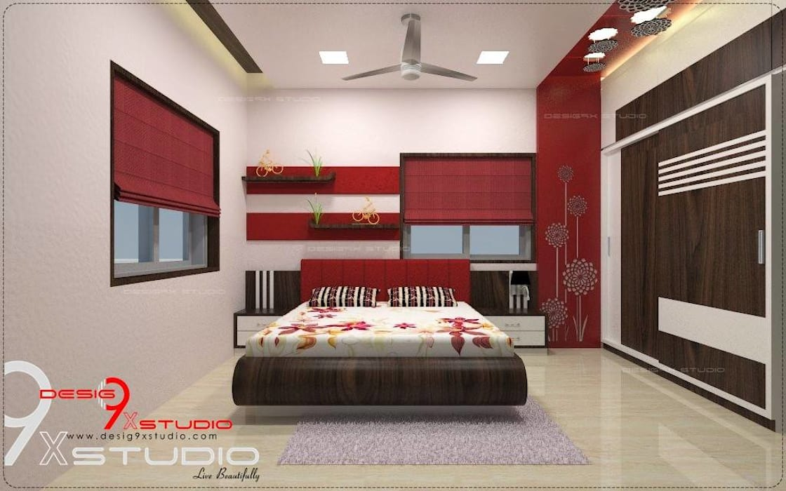 Bedroom designs:  Bedroom by Desig9x Studio,Modern