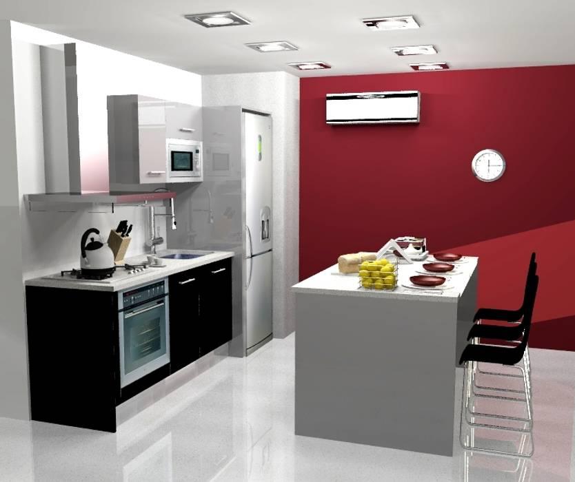 Cocina cocinas de estilo moderno por arce mobiliario homify for Cocina estilo moderno