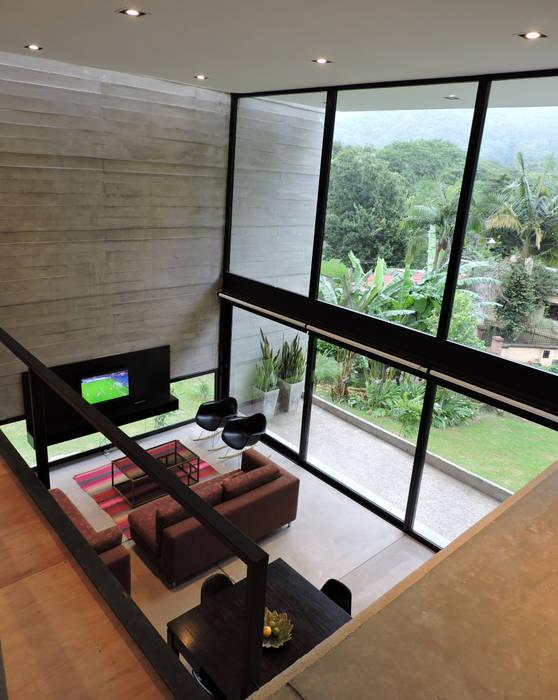 jose m zamora ARQ Living room Concrete