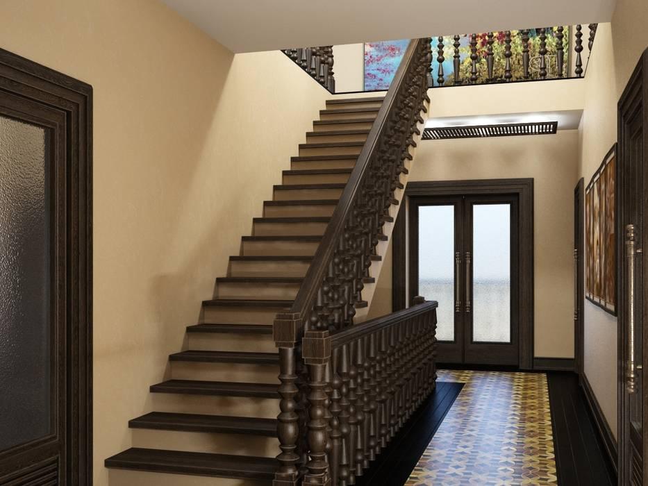 Дом в вьетнамском стиле: Коридор и прихожая в . Автор – Студия дизайна 'New Art', Азиатский