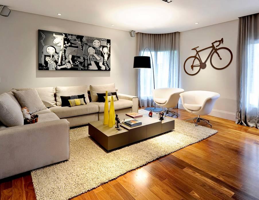 Projeto Apto Alto Pinheiros RUTE STEDILE INTERIORES Salas de estilo moderno