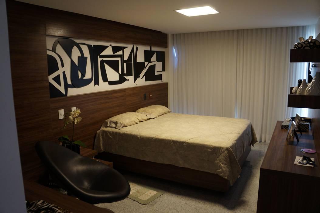 Projeto Casa Cor Alagoas - revestimento de parede: Quartos  por Complementto D,Moderno