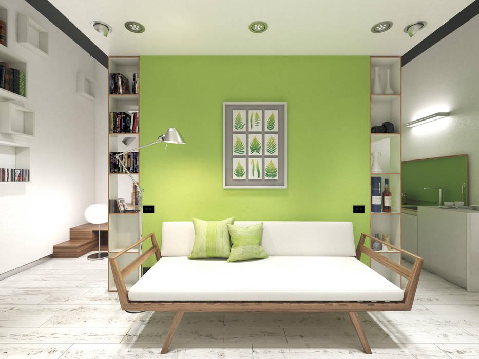 Parete attrezzata 3d-arch soggiorno moderno   homify