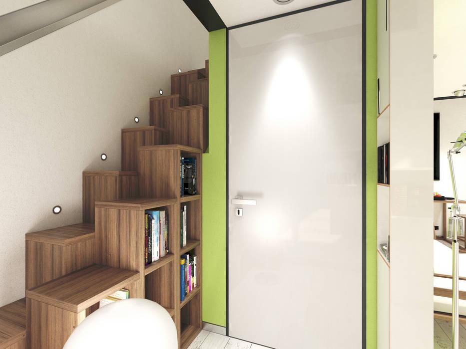 Scale in legno: Ingresso & Corridoio in stile  di 3d-arch,