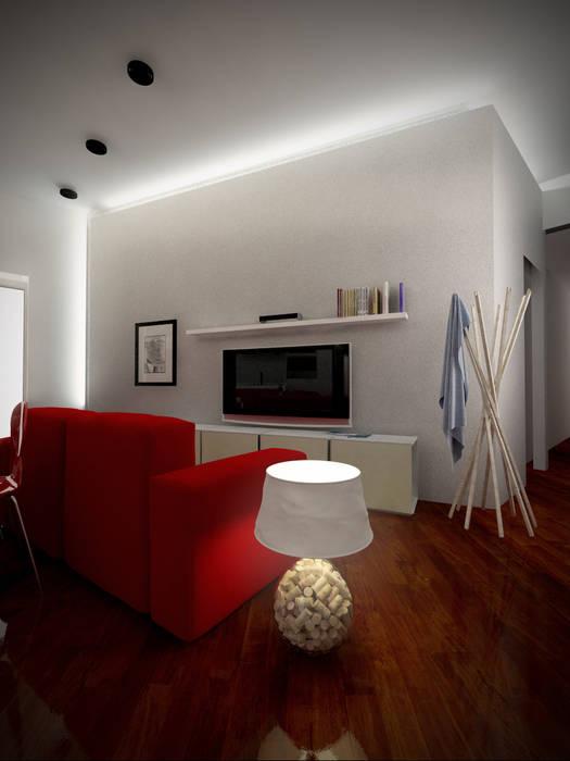 Living: Soggiorno in stile in stile Moderno di architettura & design factory