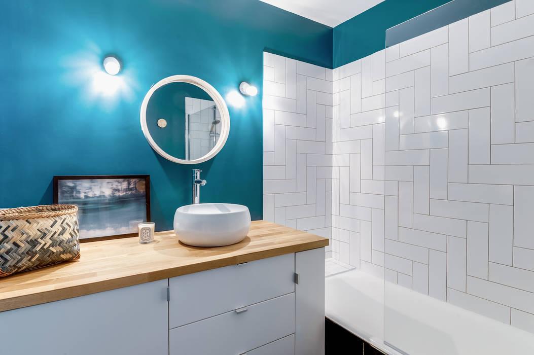 PROJET VOLTAIRE, Agence Transition Interior Design, Architectes: Carla Lopez et Margaux Meza: Salle de bains de style  par Transition Interior Design , Moderne